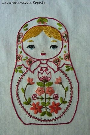 Interesting work from beautiful blog Les Broderies de Sophie