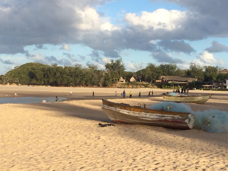 Tofo Beach in the afternoon