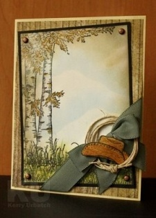 Birch Tree & Hat. Love the hat embellie combo.: Cowboys Hats, Cards Ideas, Birches Trees, Man Cards, Guys Cards, Cards Masculine, Heartfelt Creations, Westerns Cards, Trees Hats