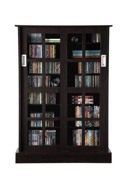 Inspirational Black Dvd Cabinet with Glass Doors
