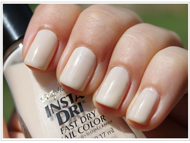 Sally Hansen - Beige Blast (Nailed It)  This color is great if you want to do the newsprint/magazine look you see all over Pinterest.