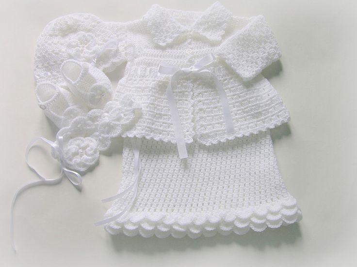 Komplet Zosia ze sweterkiem 68-74 chrzest, okazje - Amelia-strojedochrztu - Ubranka do chrztu