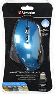 Verbatim Wireless Notebook 6-Button Deluxe Blue LED Mouse (Black) $280.00 precio sujeto a cambio