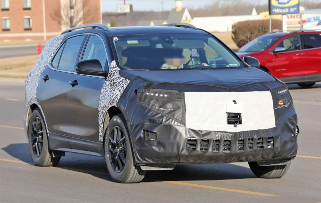 2021 Chevy Equinox Spied Partially Camouflaged Chevrolet Equinox