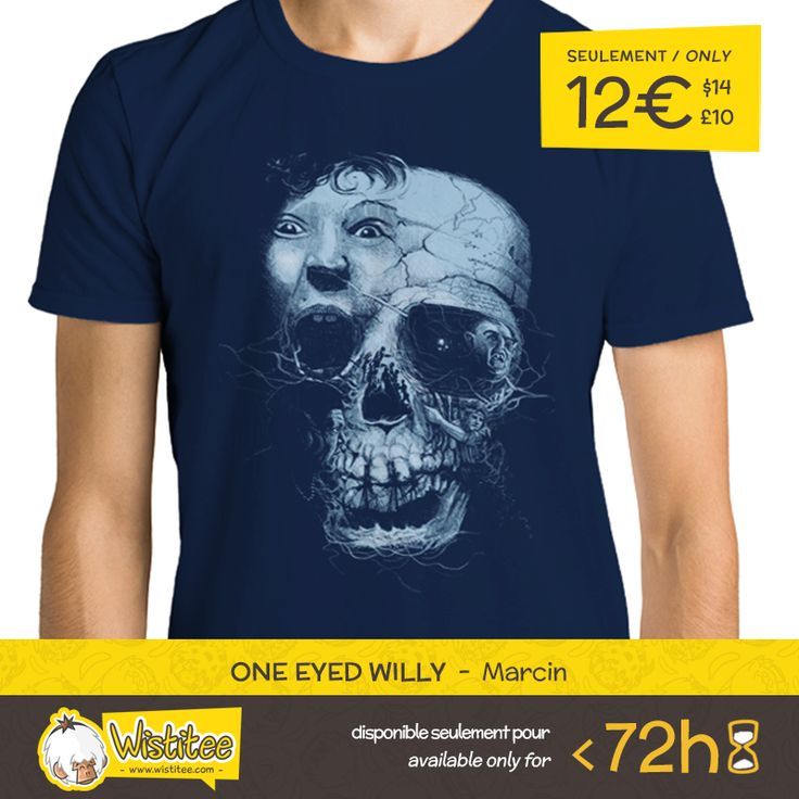 """(EN) """"One Eyed Willy"""" designed by the astounding Marcin is our NEW T-SHIRT. Available 72 hours, order yours today for only 12€/$14/£10 on WWW.WISTITEE.COM     (FR) """"One Eyed Willy"""" créé par l'incroyable Marcin est notre NOUVEAU T-SHIRT. Disponible 72 heures, réservez-le dès maintenant pour seulement 12€/$14/£10 sur WWW.WISTITEE.COM     #Goonies #aventure #WillyLeBorgne #Choco #Sinok #TheGoonies #adventure #OneEyedWilly #Chunk #Sloth #Fratelli #FratelliFamily #LesGoonies #pirate…"""