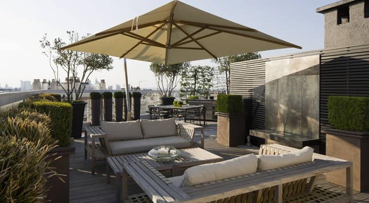 roof top terrace, paris