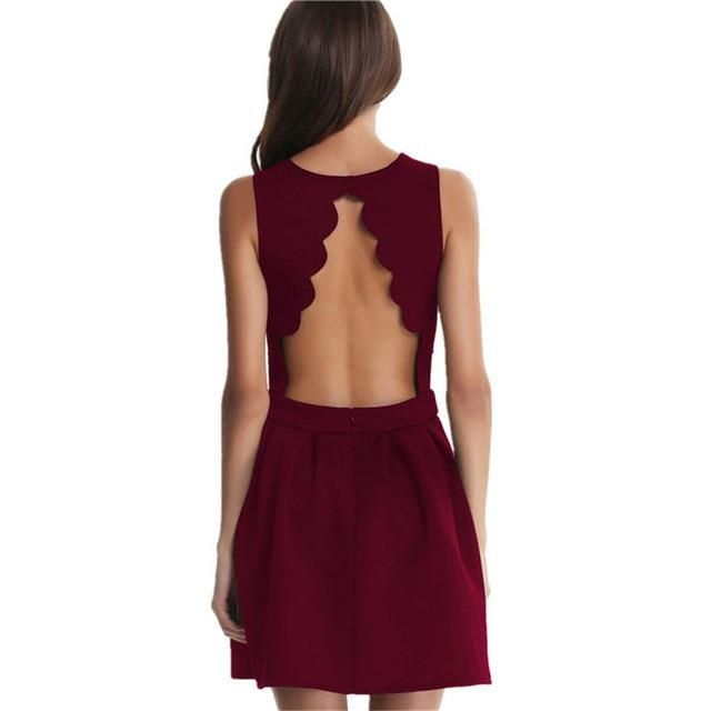 Doris Open Back Mini Dress