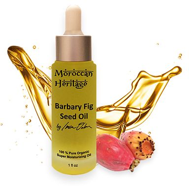"""Barbary Fig Seed Oil Anti-aging (also known as Prickly Pear Seed Oil, or Cactus Oil) is the new """"IT"""" oil of the moment, surpassing Argan oil in the amount of anti-oxidants and vitamin E it contains. Being 100% natural, this anti-aging and anti wrinkle essential oil is the new """"liquid gold""""!"""