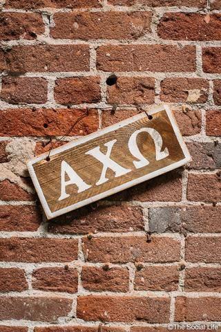 Alpha Chi Omega Letters Sign from The Social Life