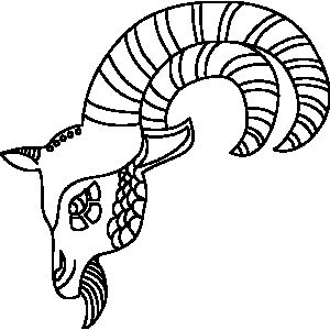 38 best images about astrology for kids on pinterest for Capricorn coloring pages