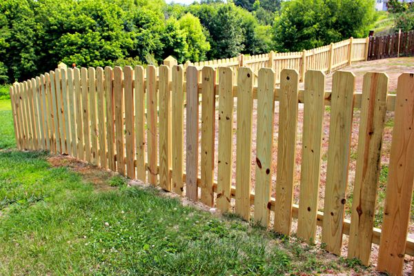 Wood Semi Privacy Dog Ear Picket Wood Picket Fence