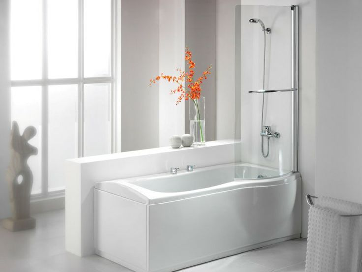 Minimalist White Bathtub Shower Combo My Warehouse