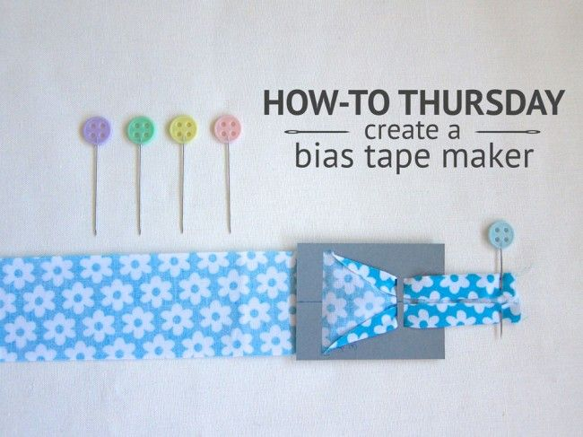 How-To create a DIY Bias Tape Maker - Free tutorial on Stitch-N-Smile.com