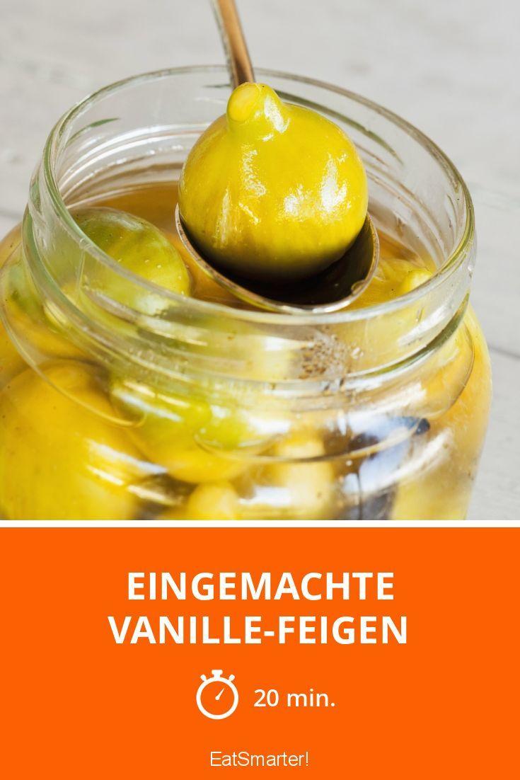 Eingemachte Vanille-Feigen