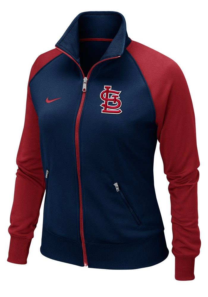 St. Louis (STL) Cardinals Women's Navy/Red Track Jacket by Nike $65.00 www.rallyhouse.com