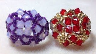 Beaded Rings to make and wear - YouTube