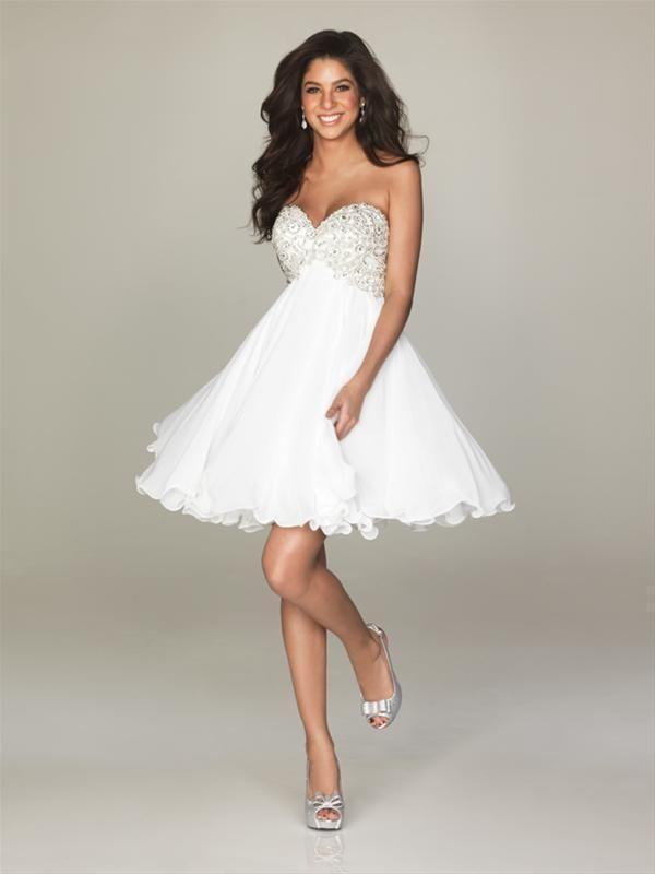 vestidos de 15 años cortos blanco - Buscar con Google