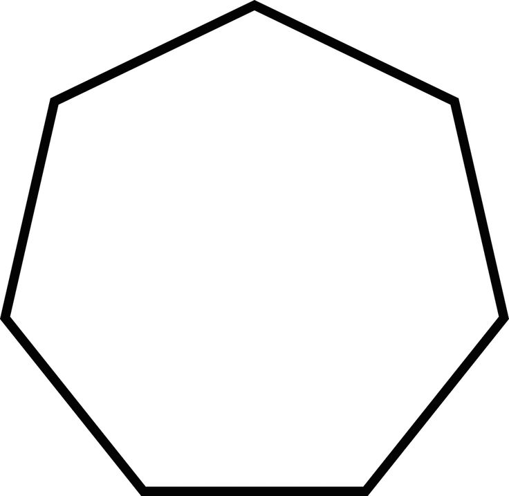 Polygon with 7 sides. SEVEN.