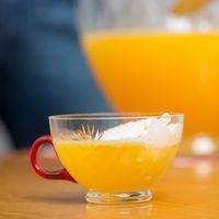 Wodka, Orangensaft, Maracuja- saft und Bitter Lemon in ein Bowlegefäß gießen und vermischen. Kurz vor dem Servieren das Vanilleeis zugeben und etwas...