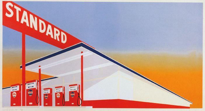 Ed Ruscha. Standard Station, 1966.