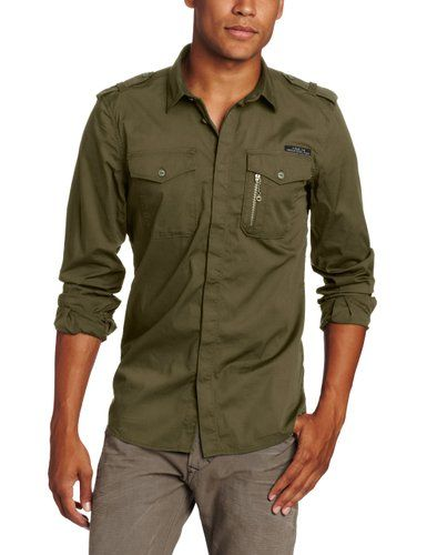 Diesel Olive Button down shirt