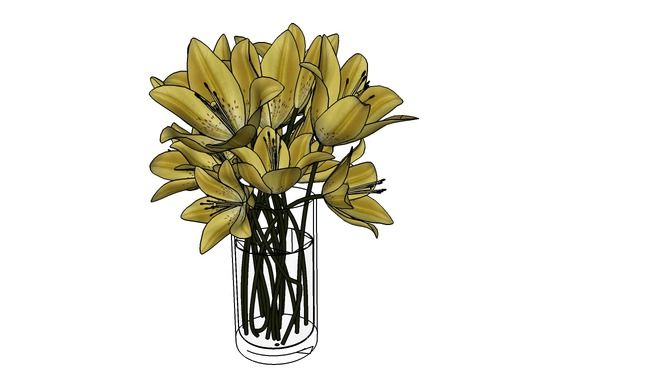 Large preview of 3D Model of Flower2