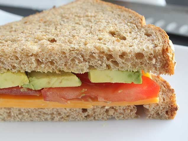 Avocado, Cheddar and Tomato (ACT) Sandwich. So I have this total issue ...