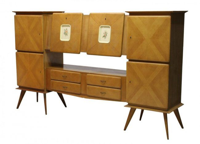 I Just Discovered This Piero Fornasetti Style Italian 1950u0027s Oak Bar  Credenza On LiveAuctioneers And Wanted. Piero FornasettiCredenzaModern  FurnitureTo ...