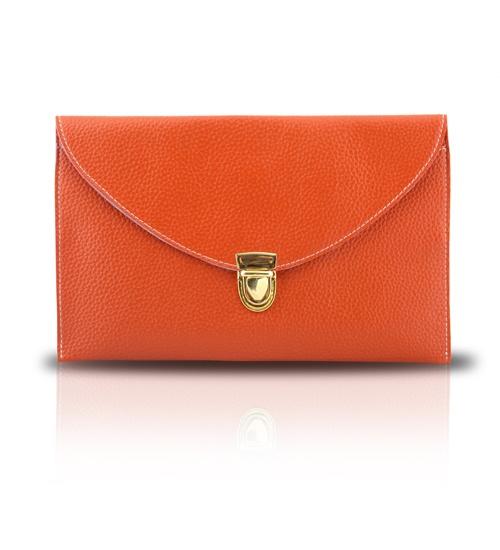 GOTG Orange Clutch on glamouronthego.co.uk