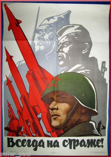 Soviet Military Poster, SUITABLE FOR: Letting winter win you a war, NOT SUITABLE FOR: Treaties of non-aggression