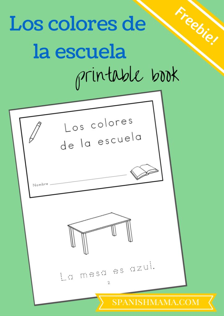 Free Classroom Objects Printable Booklet | Spanish Freebies ...
