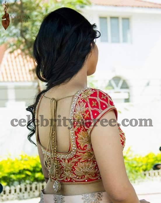 Lotus Design Blouse by Varuna Jithesh   Saree Blouse Patterns