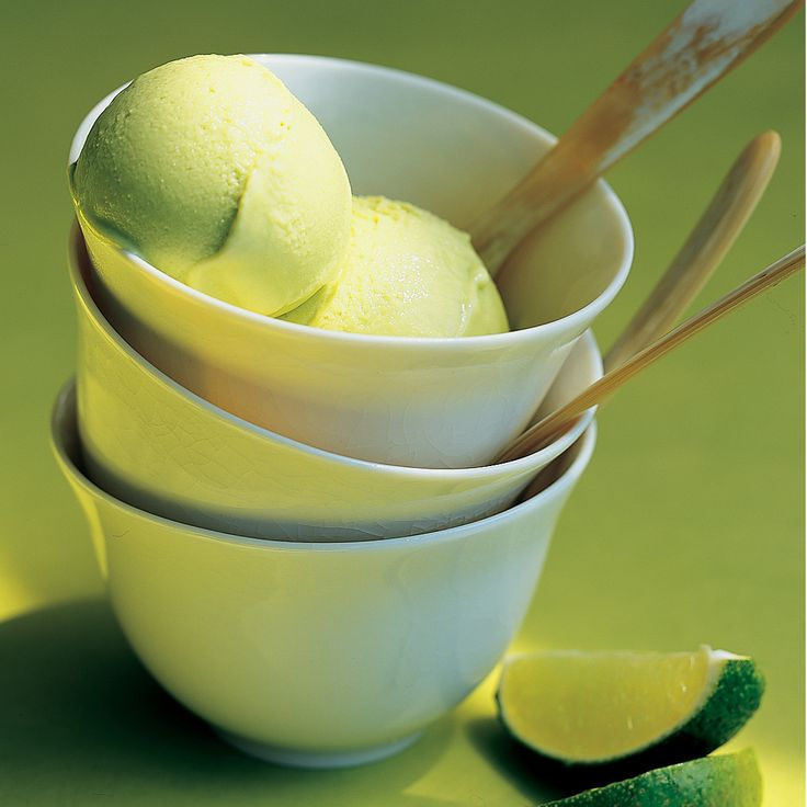 Avocado adds an unexpected savoriness -- plus its retro shade of green -- to icy gelato, made in part with fat-free milk.