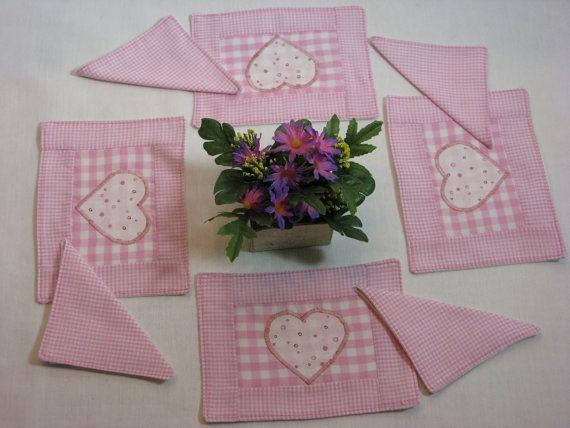 VALENTINE American Girl Placemat Set with by DollPatchworks, $18.00