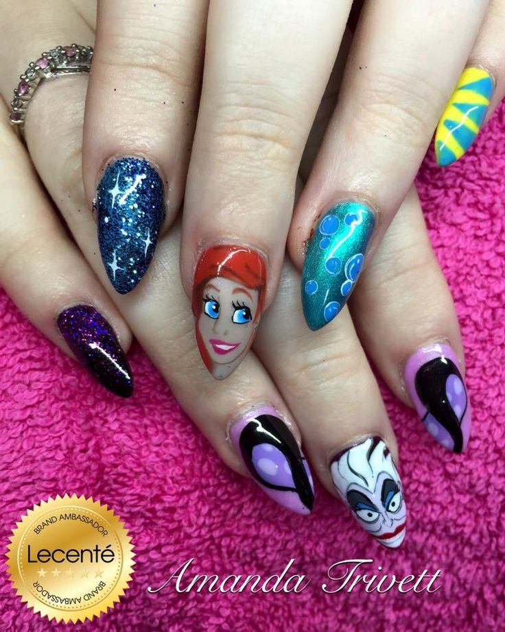 190 best our fab brand ambassador images on pinterest brand handpainted disney little mermaid nails by amanda trivett created using lecent glitters and detailer brushes prinsesfo Image collections