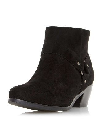 Dorothy Perkins Womens *Head Over Heels Black Pointed Ankle Black Penley pointed side fringe detail boots. 100% TEXTILE. Machine washable. http://www.MightGet.com/january-2017-13/dorothy-perkins-womens-head-over-heels-black-pointed-ankle.asp