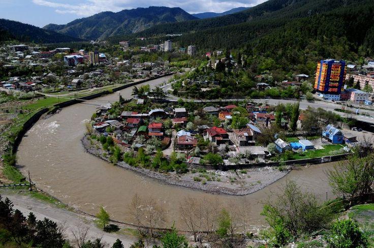 Borjomi Town in Georgia