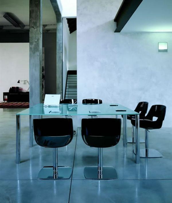 Le plateau de bureau en verre pour votre office la maison bureau en verre - Plateau de verre bureau ...