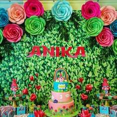 Anika's Happy Forest Colorful Trolls Party - Trolls