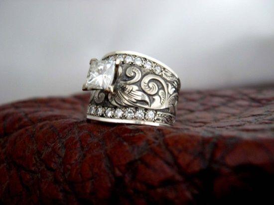 western wedding rings | Western Wedding / Custom made western wedding rings by Travis Stringer ...