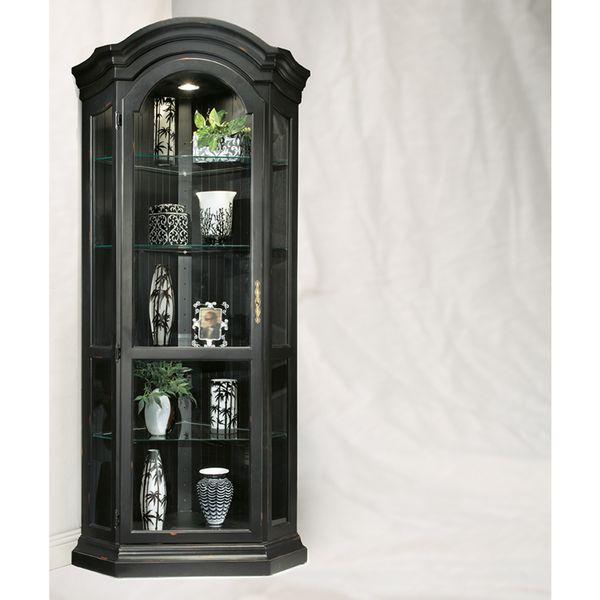 color time pirate black panorama corner display cabinet