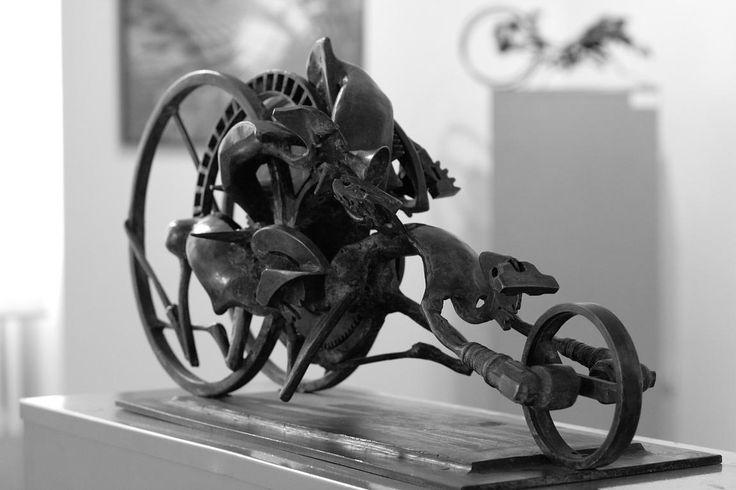 Z výstavy ve Slezskoostravské galerii v roce 2010.