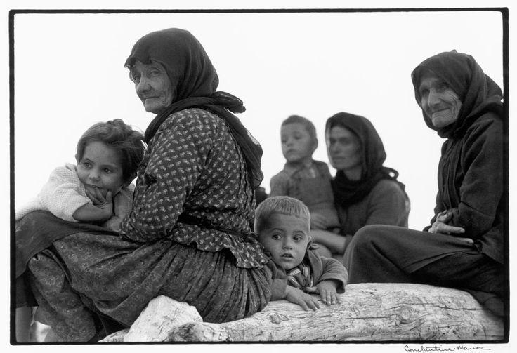 """GREECE. Crete. 1964. Watching a religious procession. """"A Greek Portfolio"""" p.73 © Costa Manos/Magnum Photos"""