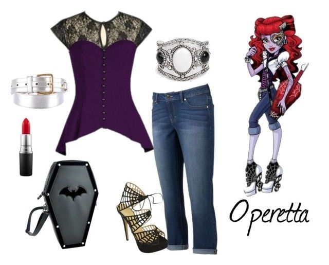 """""""Monster High"""" by sassyladies ❤ liked on Polyvore featuring Jennifer Lopez, Charlotte Olympia, Dolce&Gabbana, Boohoo and MAC Cosmetics"""