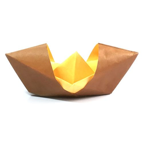 How to make a paper boat with sunshade