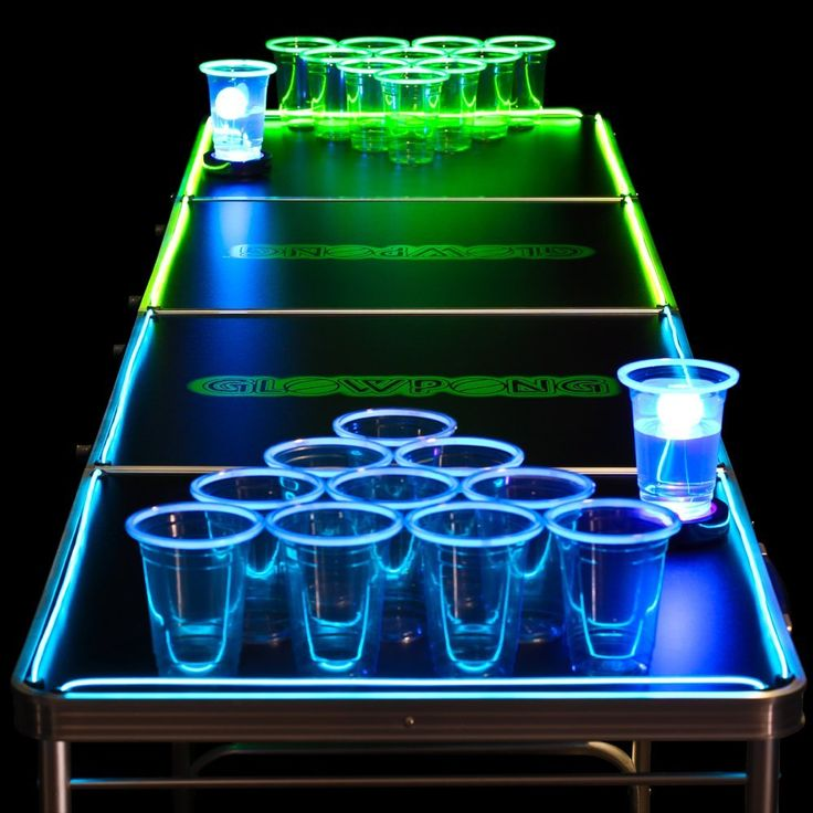Add some flare to your beer pong games with this glowing beer pong game set & 59 best Cool Beer Pong Products images on Pinterest | Beer pong ...