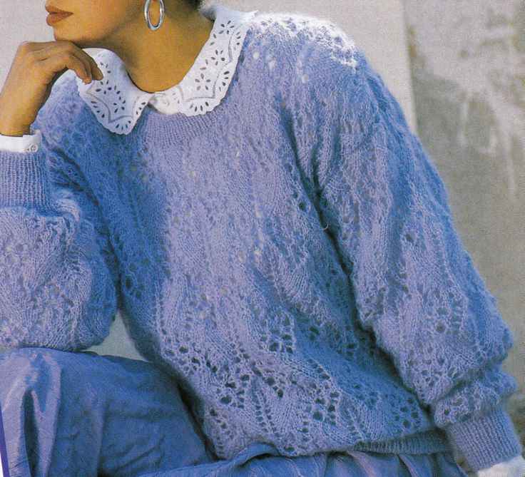 Vintage Knitting Pattern Instructions to Make a Ladies Spring Jumper Sweater