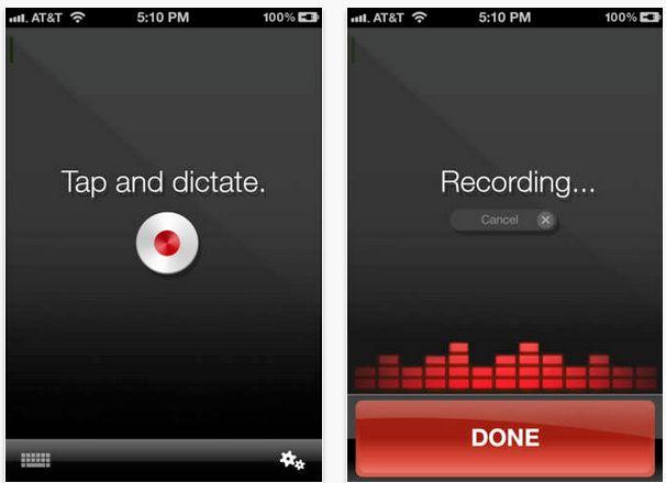 Dragon Dictation App (Free) https://itunes.apple.com/us/app/dragon-dictation/id341446764