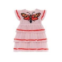 Baby tulle dress with butterfly