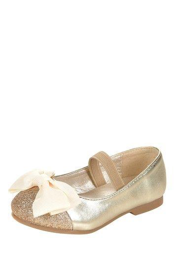 Glitter Cap Toe Ballet Flat